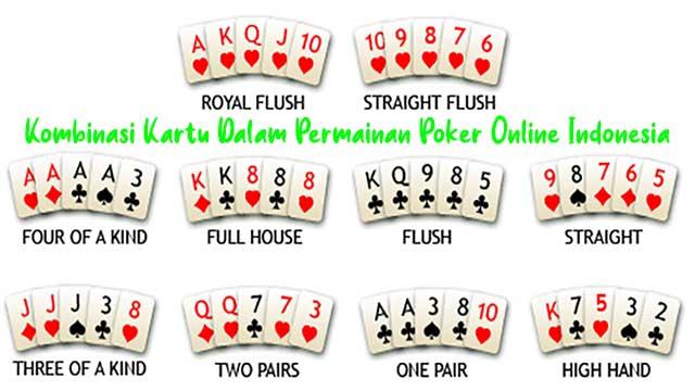 Kombinasi Kartu Dalam Permainan Poker Online Indonesia